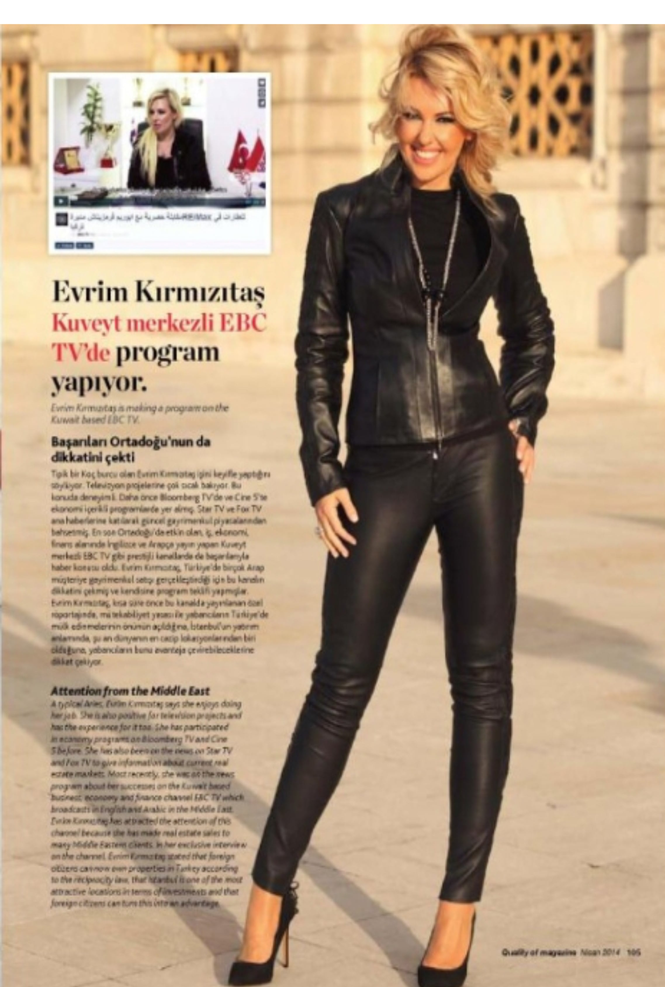 Quality of Magazine Dergisi, Nisan 2014